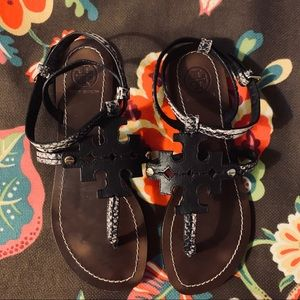 Tory Burch Brown Leather Sandals Size 6